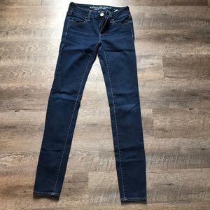 Dark blue denim jeans (long)